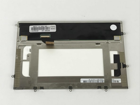 Carefully remove the LCD from the front glass casing.