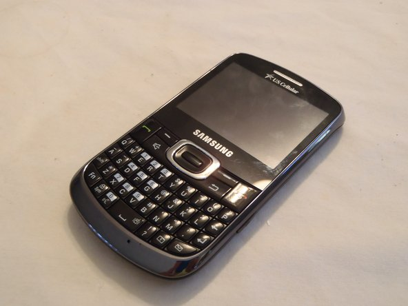 Here stands the Samsung Freeform 4.  This phone has a full QWERTY keyboard, 2MP camera, and even a built in web browser!
