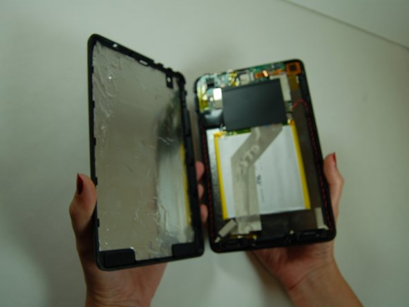 Once the backplate is separated from the screen it should look like this.