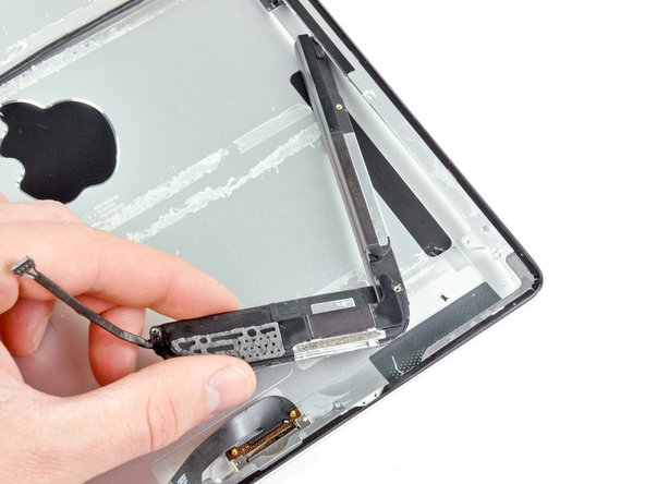 Image 2/2: Remove the speaker assembly from the iPad 2.