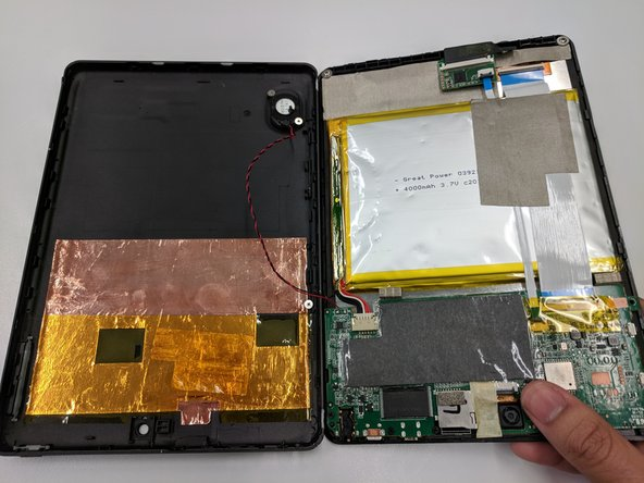 To reassemble your device, follow these instructions in reverse order.