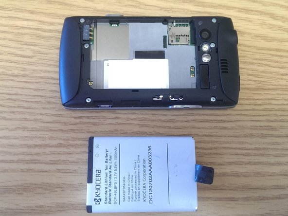 Image 2/2: Next pull the battery from the phone