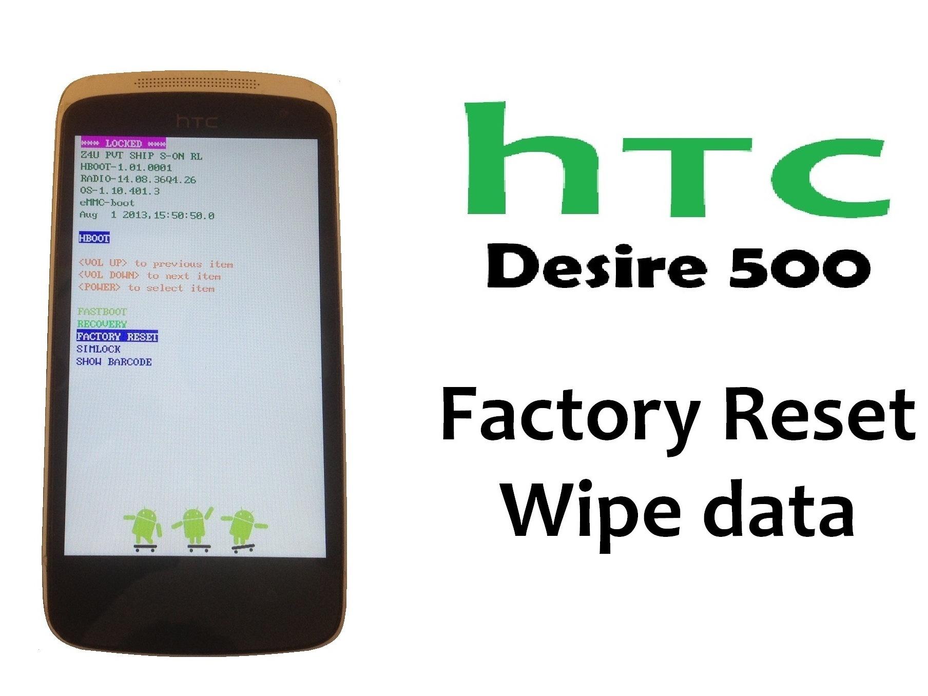 Htc desire 500 hard reset