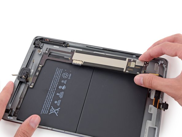 Remove the logic board from the iPad.