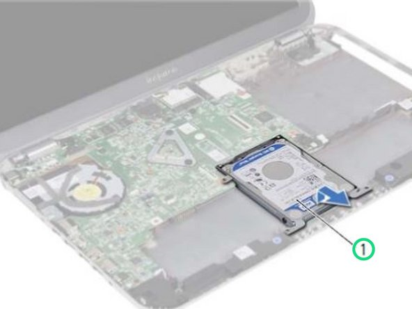 Place the hard-drive assembly on the computer base.