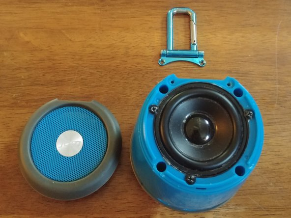 Remove the screws for the speaker and the four that are down the holes.