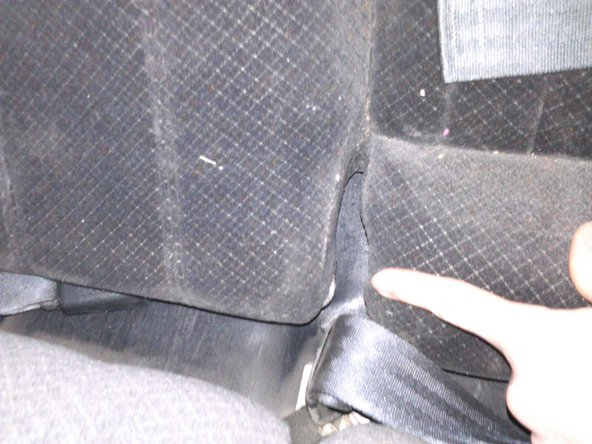 Image 1/3: As shown in the first image, be sure to put the seat belt and buckles through the slit on the seat. Otherwise, you will be without seat belts in the back.