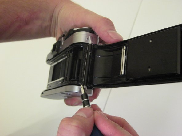 Open the film compartment