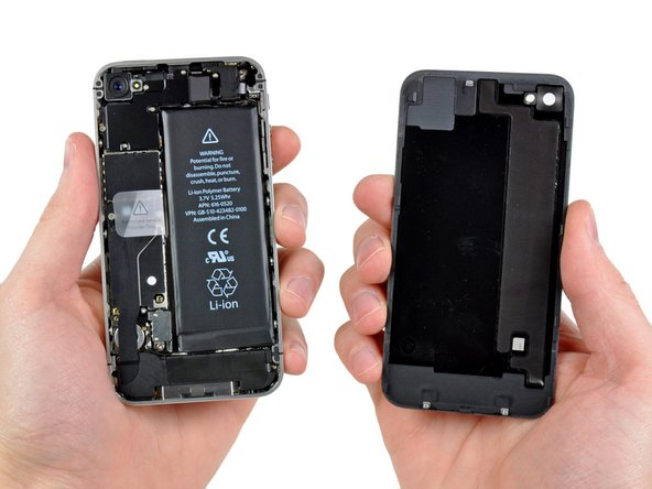 Image 1/1: Pinch the rear panel with your fingers, and lift it away from the iPhone. Alternatively, use a [product|IF145-019|Small Suction Cup] .
