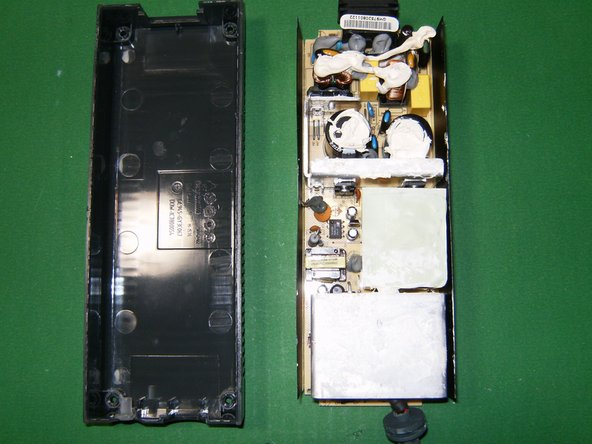 Circuit board and case separated