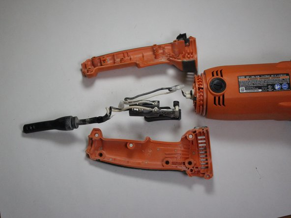 Ridgid Angle Grinder R10202 Handle Disassembly