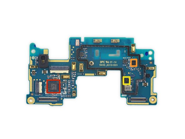 Image 1/3: NXP [link|https://chipworks.secure.force.com/catalog/ProductDetails?sku=NXP-47803&viewState=DetailView&cartID=&g=|47803|new_window=true] NFC controller, as seen in the [guide|27458|Amazon Fire Phone|stepid=67319|new_window=true]