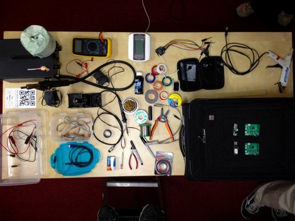 Jeff Williams's tool bag at Fixit clinic