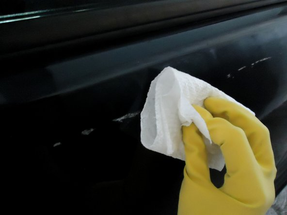 Aggressively scrub the tape for about 10 seconds.