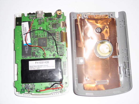 Remove the back cover from the device exposing the battery.
