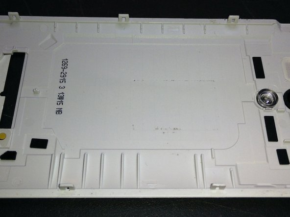 The notches of the rear case are shown in this picture