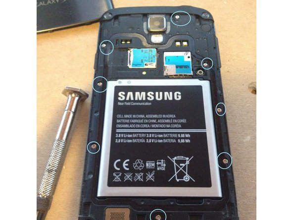 remove battery before taking off screws