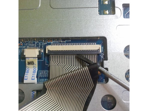 first we remove the flex cable from the keyboard.