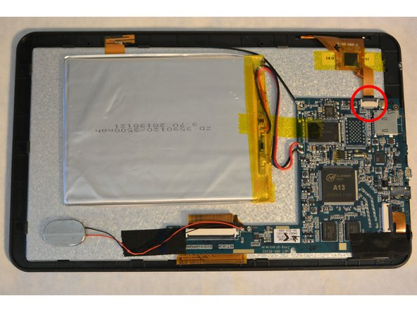 Next, you will need to detached the capacitive touch controller from the motherboard.