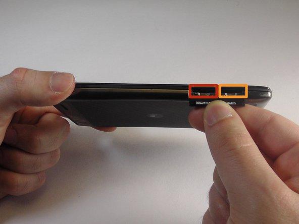 Image 1/2: Remove the microSD card.