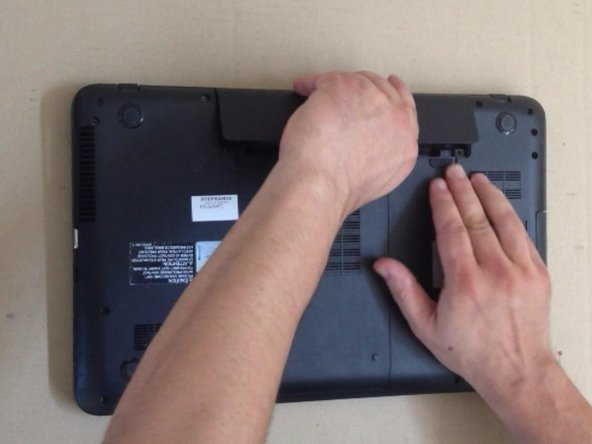 Switch-off the laptop and remove the battery.