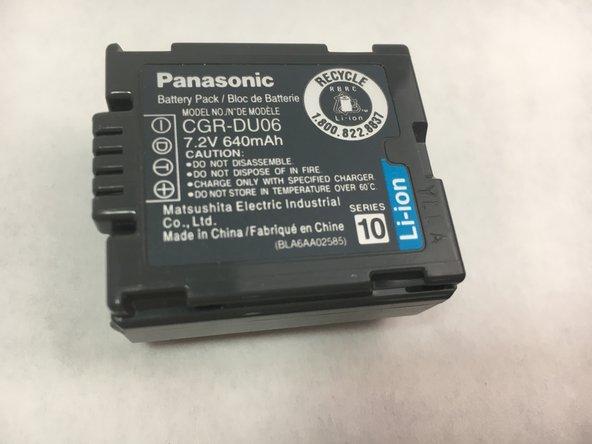 Panasonic VDR-D220 DVD Battery Replacement