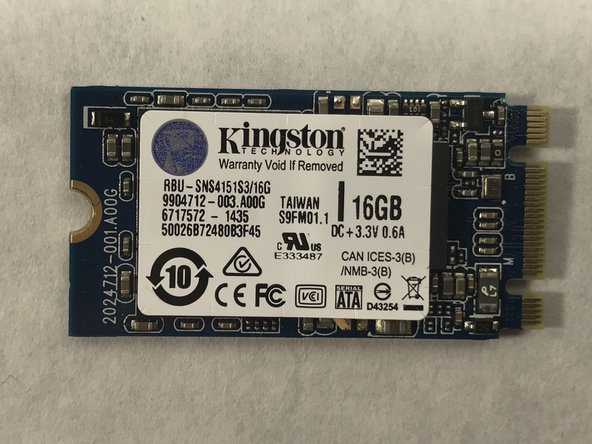 Acer Chromebook C720-2103 Solid State Drive Replacement