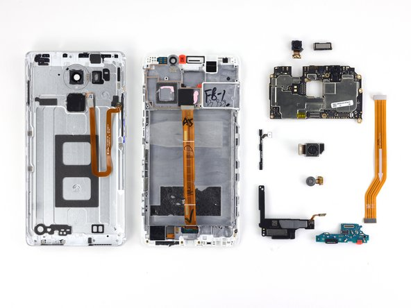 The Huawei Mate 8 earns a 6 out of 10 on our repairability scale (10 is the easiest to repair):