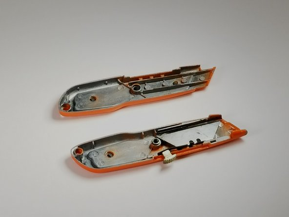 Separate casing by simply pulling apart both halves.