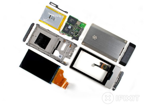 Zune HD, displayed in nine easy-to-assemble pieces!