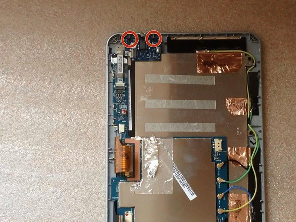 Image 2/3: Remove the  board with the Audio Jack Connector.