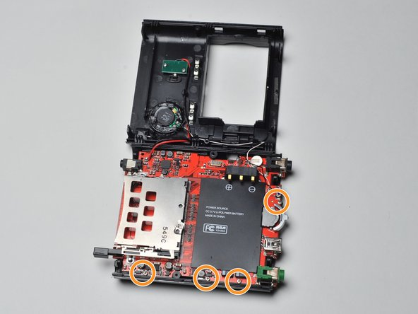 Image 1/2: Remove the four screws that secure the motherboard to the frame of the Lyra X2400.