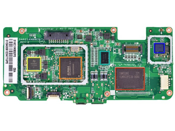 While we're at it, let's see what changed on the updated non-HD Kindle Fire's motherboard: