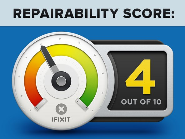 Project Tango Tablet Repairability Score: 4 out of 10 (10 is easiest to repair).