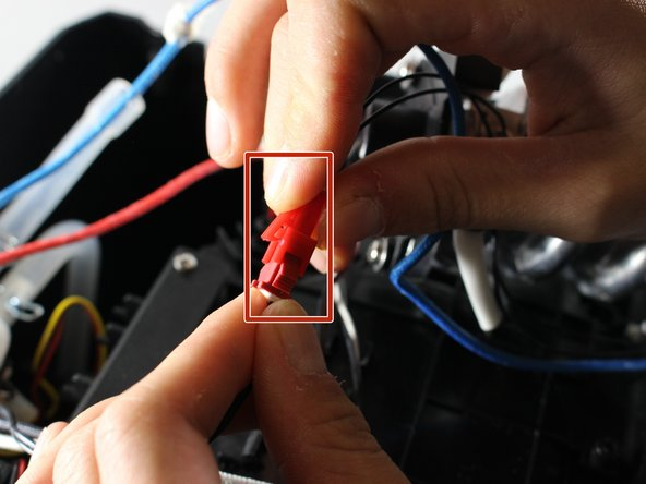 Squeeze clip and separate signal wiring.