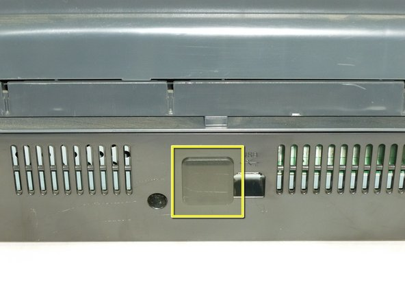 Image 1/2: Gently slide cover to the right to unlatch then pull to remove it.