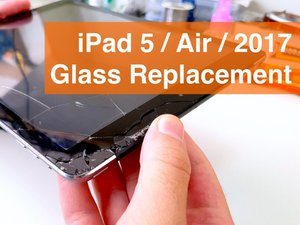 iPad 2017 (5)  LTE Glass Replacement