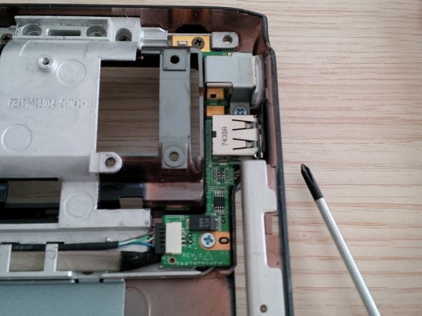 remove the DC jack and usb PCB.
