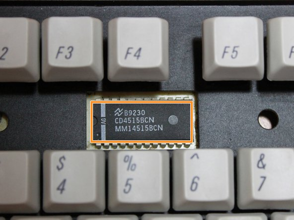 The brains of this keyboard is a Toshiba TC4515BP binary controller.