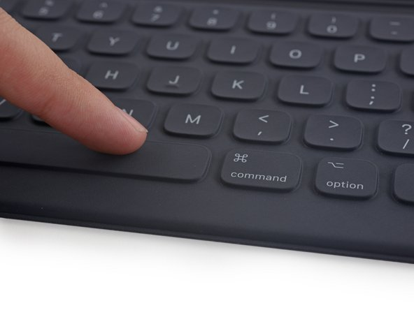 In order to make the Smart Keyboard water and stain-resistant, Apple encapsulated the entire accessory inside some high tech fabric.