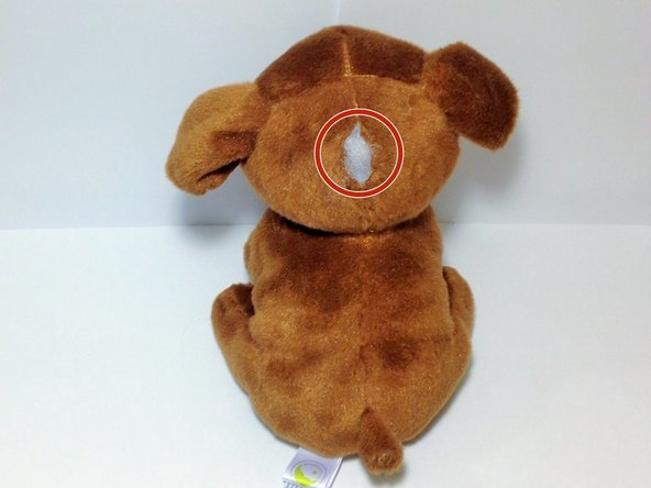 Pinpoint the tear in your stuffed animal.