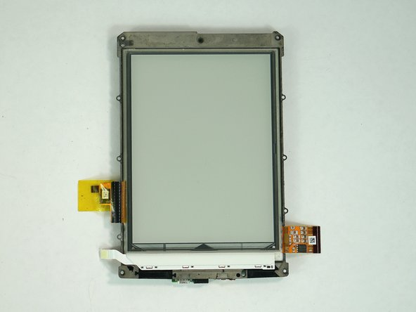 The touchscreen is attached to the rest of the frame. Purchasing a new frame will require reattaching the motherboard and the battery.