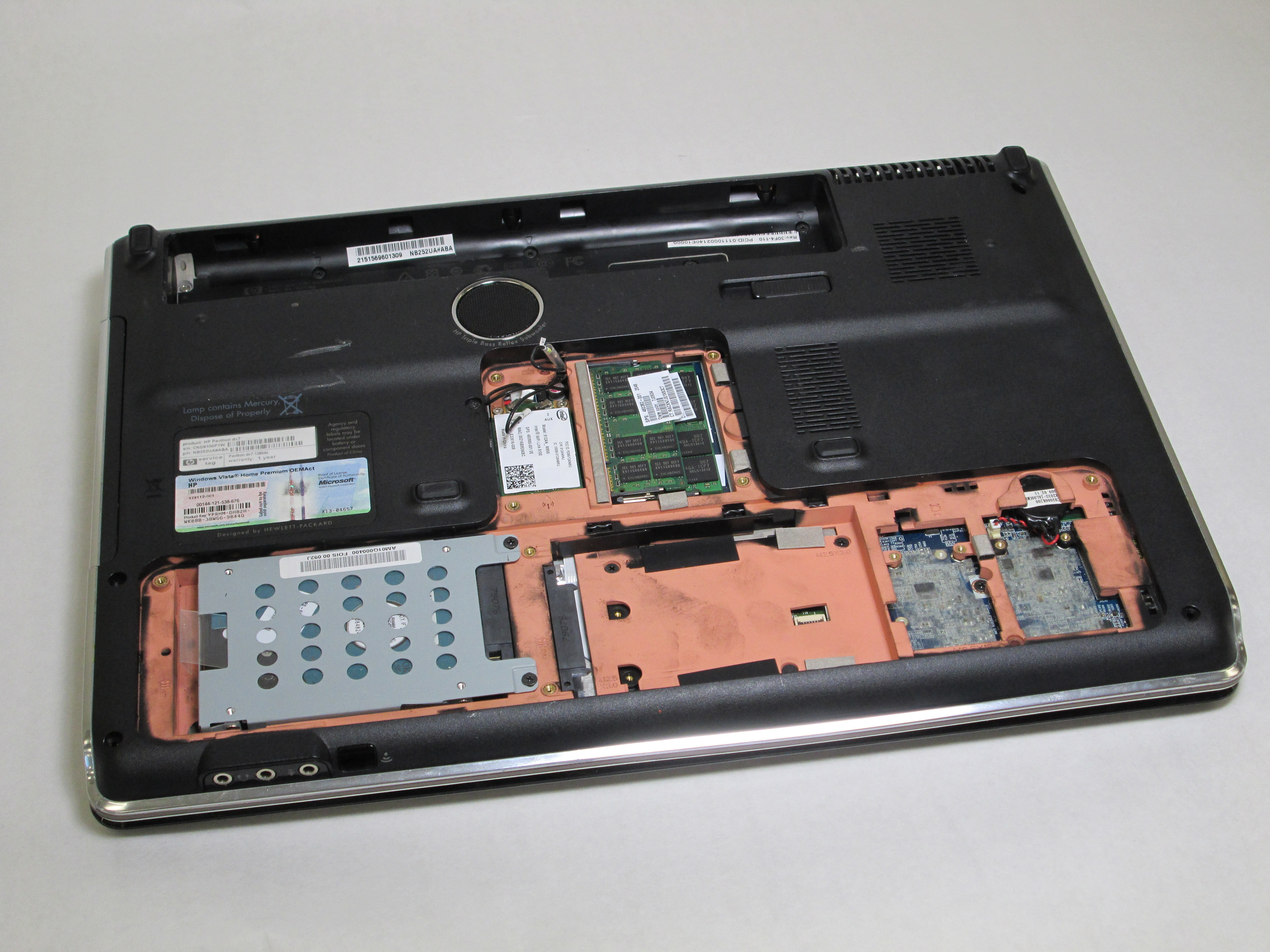 hp pavilion dv7 1285dx hard drive replacement ifixit. Black Bedroom Furniture Sets. Home Design Ideas