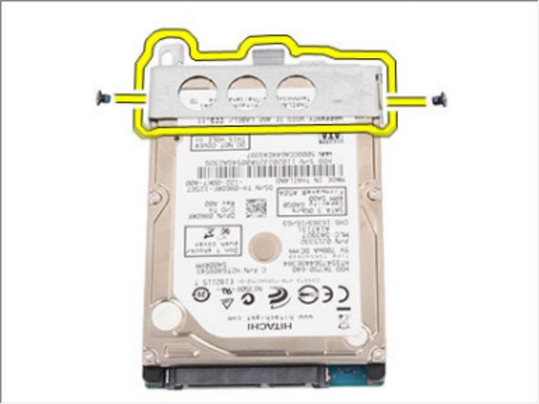 Remove the screws that secure the hard drive bracket and detach it from the hard drive.