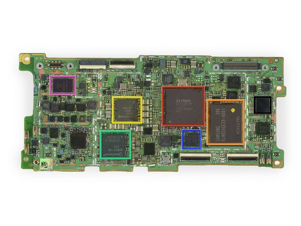 All ICs are located on the front side of the motherboard: