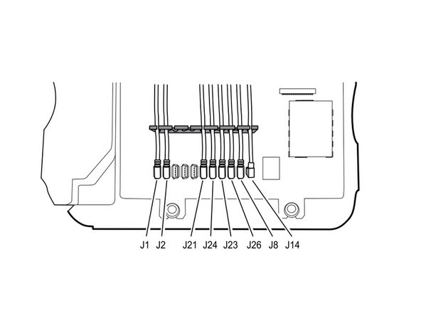 When reassembling, position each cable to extend approximately 1.5 inches past the separator as shown.