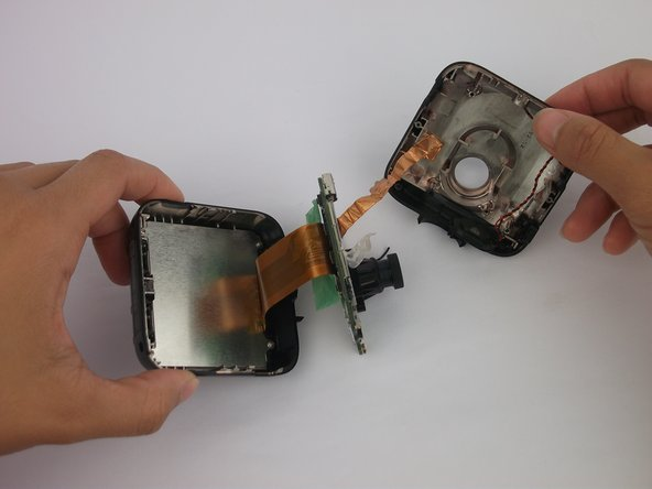 Image 1/1: Disconnect from the front case and the copper strip.