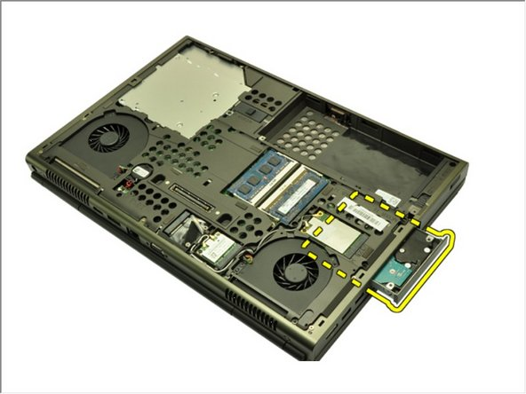 Remove the hard drive bracket from the system.