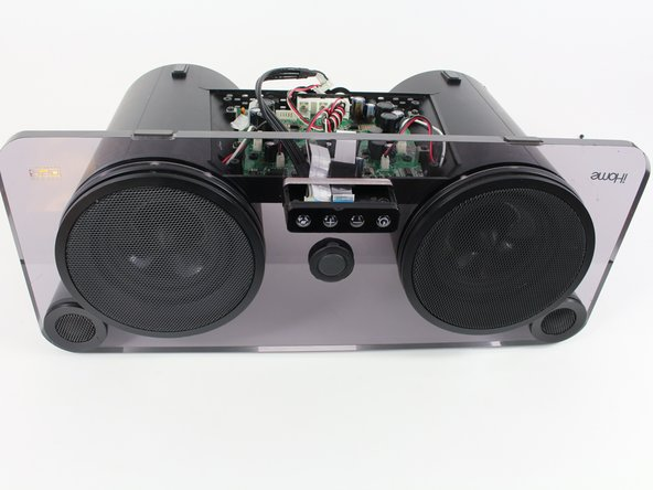 Rotate the iHome so that the speakers are facing you.
