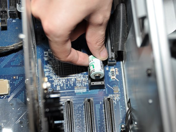 Be careful to note which end is positive and which is negative. The positive end should be facing away from the PCI slots.